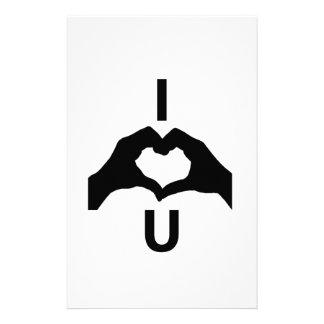 I Liebe Sie (mit Handzeichen) Briefpapier