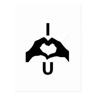I Liebe Sie (mit Handzeichen) Postkarte