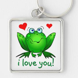 I Liebe Sie niedliche Frosch-Herzen romantisch Schlüsselanhänger