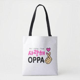 I Liebe Sie Oppa Herz-Zeichen Tasche
