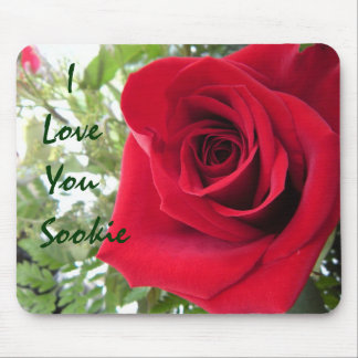 I Liebe Sie - Single-Rote Rose Mousepad