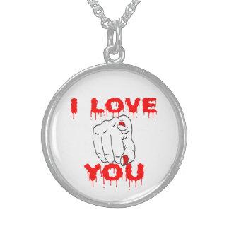I Liebe Sie Sterling Silberkette