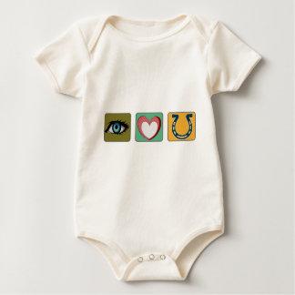 I Liebe Sie Symbole Baby Strampler