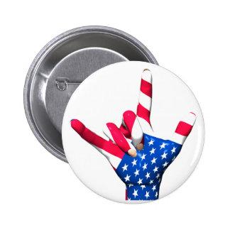 I Liebe Sie USA-Flaggen-Knopf Runder Button 5,7 Cm