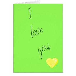 I Liebe Sie Valentine Karte