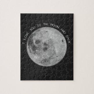 I Liebe Sie zum Mond-und Rückseiten-Starry Himmel Puzzle