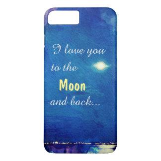 I Liebe Sie zum Mond und zum hinteren Nightsky iPhone 8 Plus/7 Plus Hülle