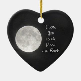 I Liebe Sie zum Mond und zur hinteren Verzierung Keramik Ornament