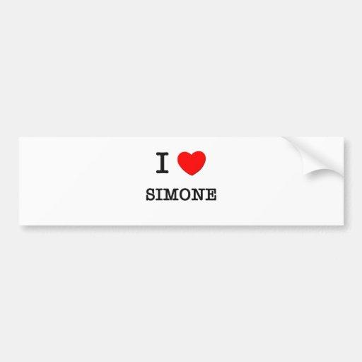 I Liebe Simone Auto Sticker