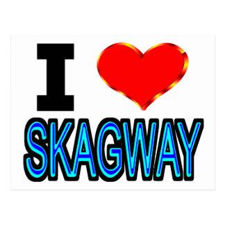 I Liebe Skagway Postkarte