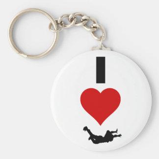 I Liebe Skydiving (vertikal) Schlüsselanhänger