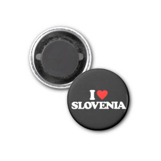 I LIEBE SLOWENIEN RUNDER MAGNET 3,2 CM