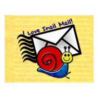 I Liebe-snail mail! (die Postkarte) Postkarte