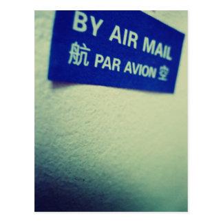 I Liebe-snail mail - durch Luftpost Postkarte