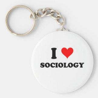 I Liebe-Soziologie Standard Runder Schlüsselanhänger