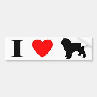 I Liebe-spanischer Wasser-HundeAutoaufkleber Autoaufkleber