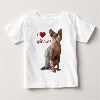 I Liebe-Sphinx-Katzen Baby T-shirt