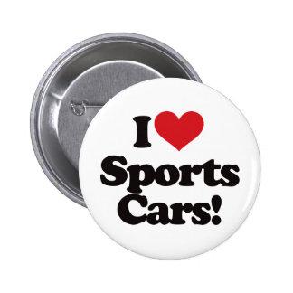I Liebe-Sport-Autos! Runder Button 5,7 Cm
