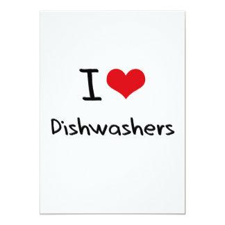 I Liebe-Spülmaschinen Personalisierte Ankündigung