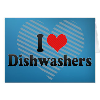 I Liebe-Spülmaschinen Grußkarte
