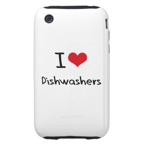I Liebe-Spülmaschinen iPhone 3 Tough Hüllen