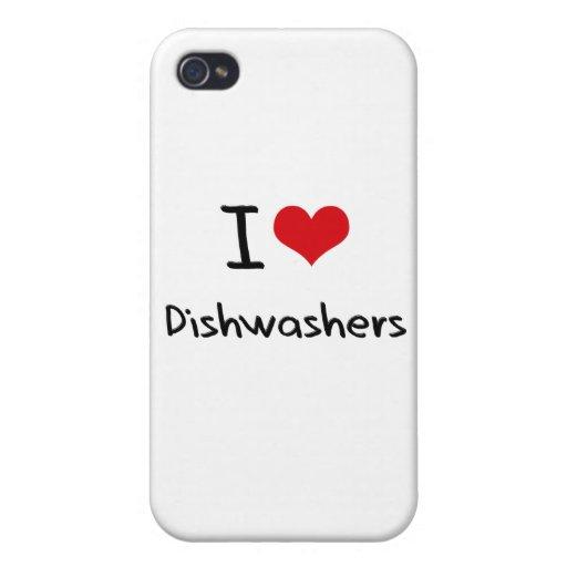 I Liebe-Spülmaschinen iPhone 4 Etui