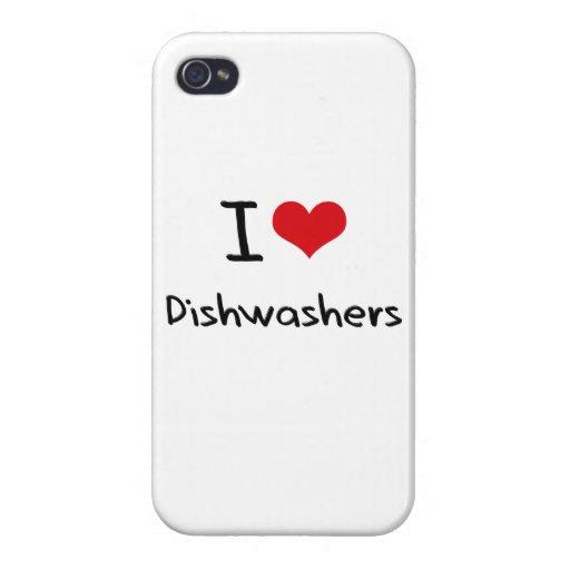 I Liebe-Spülmaschinen iPhone 4 Schutzhülle