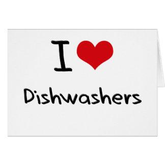 I Liebe-Spülmaschinen Grußkarten