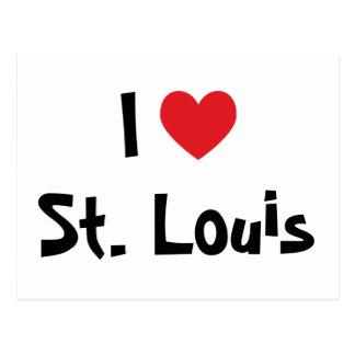 I Liebe St. Louis Postkarte