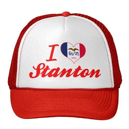 I Liebe Stanton, Iowa Netz Caps