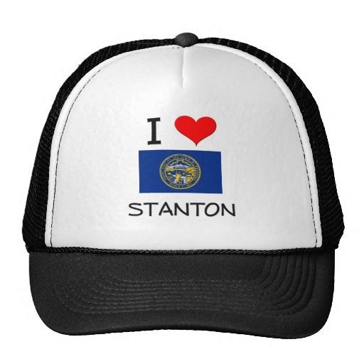 I Liebe Stanton Nebraska Trucker Mützen