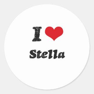 I Liebe Stella Runder Aufkleber