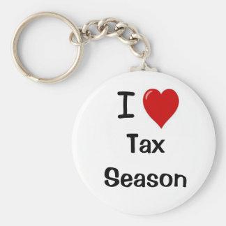 I Liebe-Steuer-Jahreszeit - i-Herz-Steuer-Jahresze Schlüsselanhänger