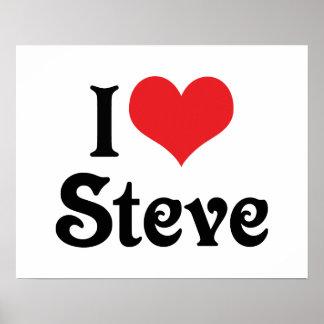 I Liebe Steve Poster