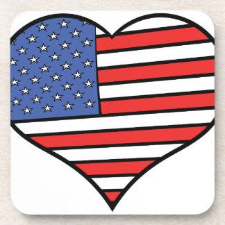 I Liebe Stolz Amerikas - USA Untersetzer