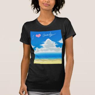 I Liebe-Strand (Text) T-Shirt