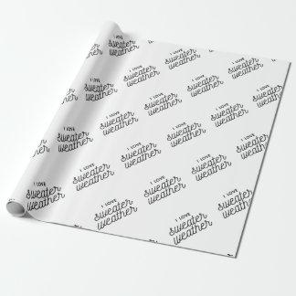 I Liebe-Strickjacke-Wetter Geschenkpapier