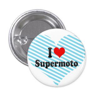I Liebe Supermoto Runder Button 2,5 Cm