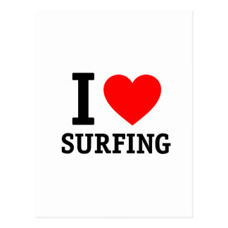 I Liebe-Surfen Postkarte