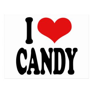 I Liebe-Süßigkeit ` Postkarte