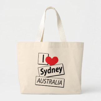I Liebe Sydney Australien Jumbo Stoffbeutel