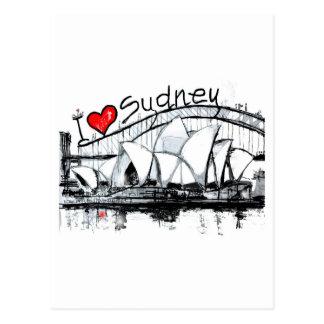 I Liebe Sydney Postkarte