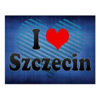 I Liebe Szczecin, Polen Postkarte