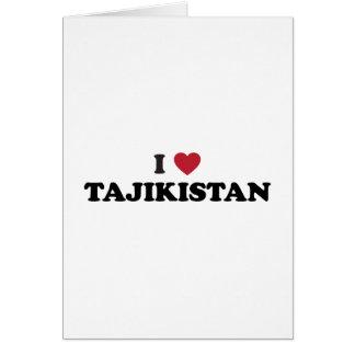I Liebe Tadschikistan Karte