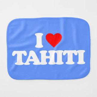I LIEBE TAHITI BABY SPUCKTUCH