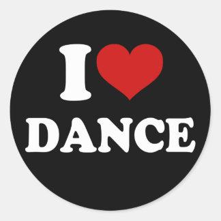 I Liebe-Tanz Runder Aufkleber
