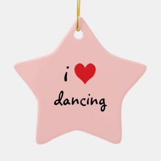 I Liebe-Tanzen Keramik Ornament