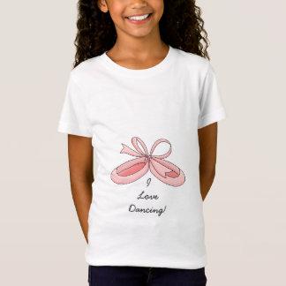 I Liebe-Tanzen! - Rosa Ballerina-Pantoffel T-Shirt
