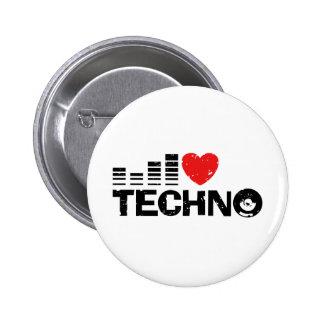 I Liebe Techno Anstecknadel