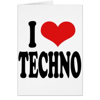 I Liebe Techno Grußkarte